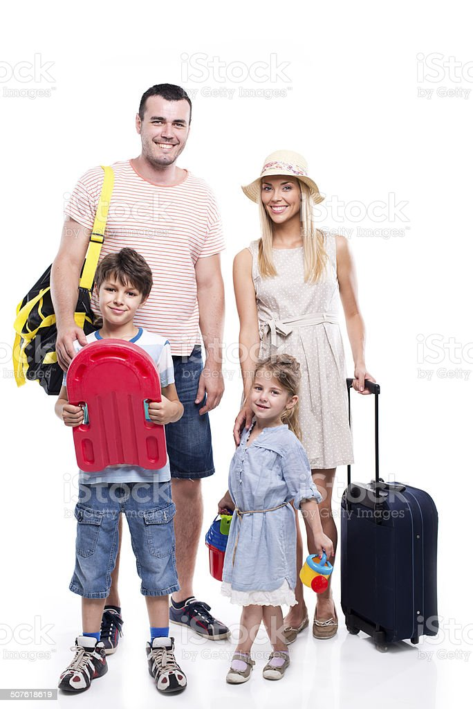 Family travel stock photo