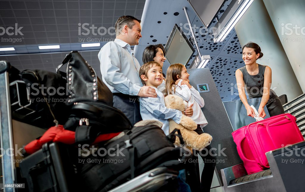 Family traveling stock photo