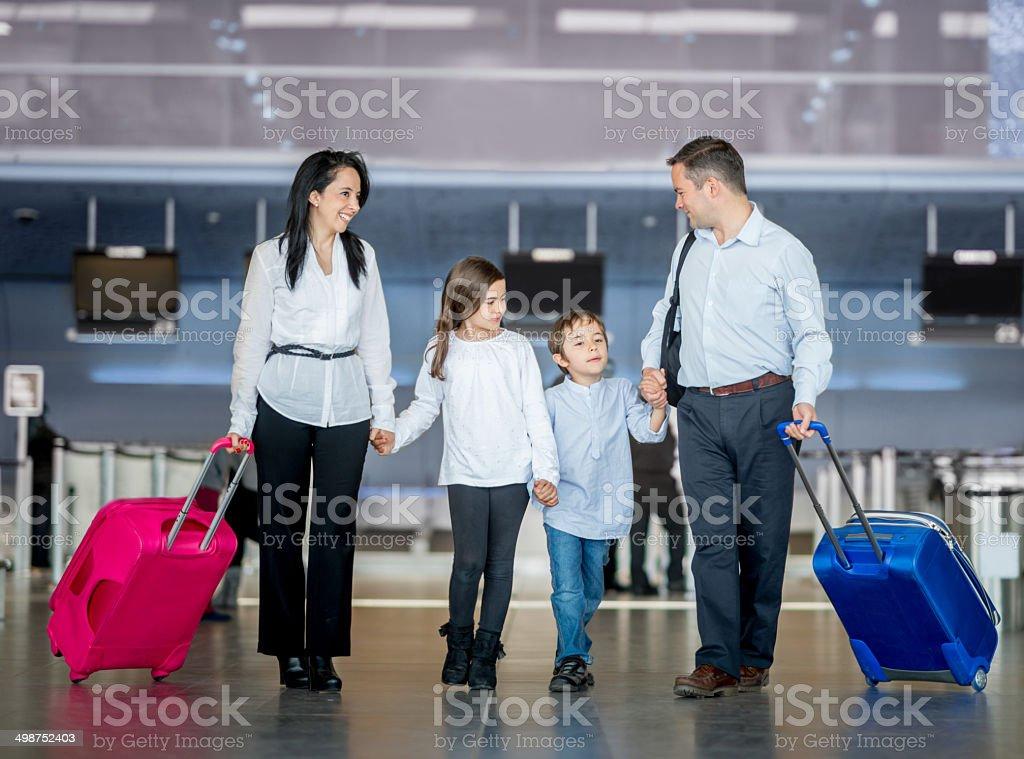 Family traveling royalty-free stock photo