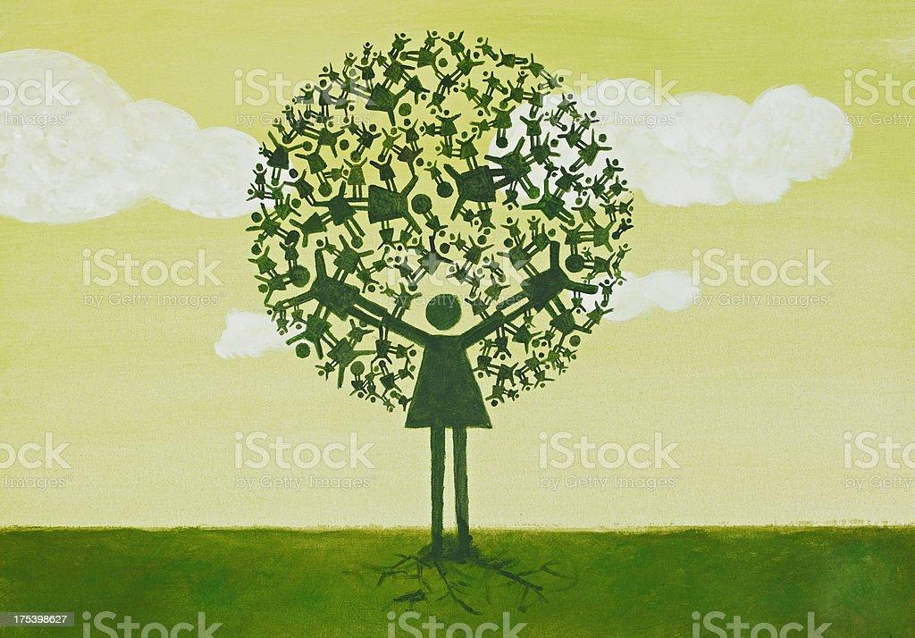 Family Tree royalty-free stock photo