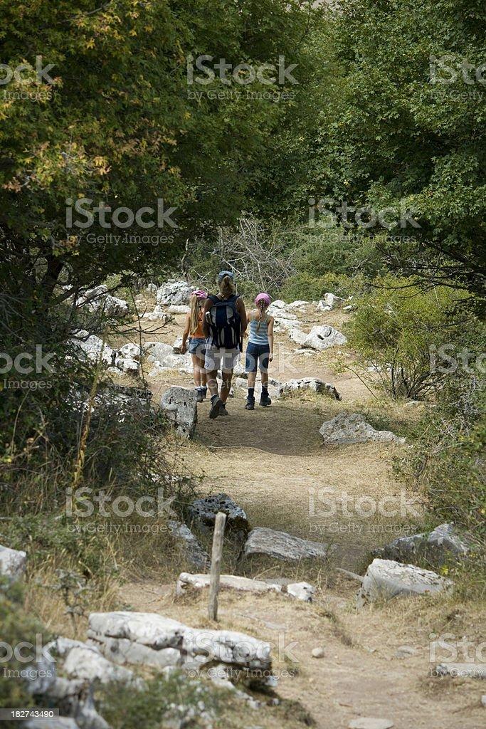 Family Trekking On Holiday royalty-free stock photo