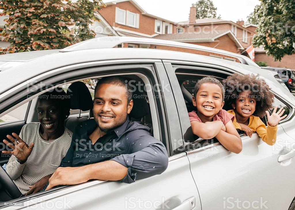 Family trip stock photo