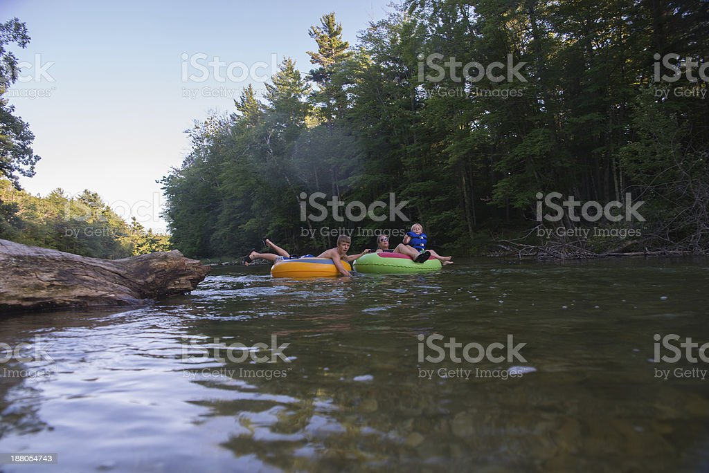 Family Tubing stock photo