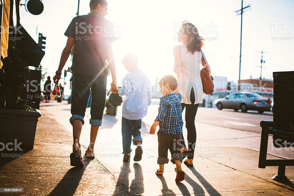 Family Vacation at Venice Beach stock photo