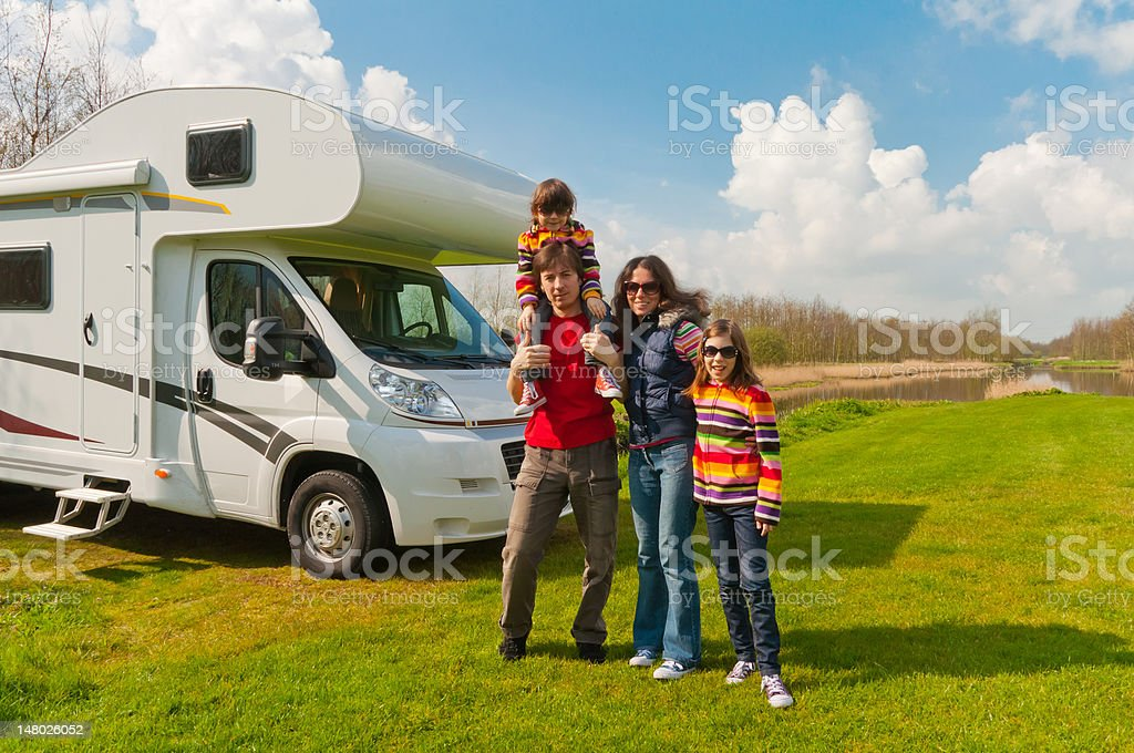 Family vacation in camping royalty-free stock photo