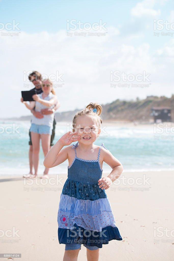 Family vacation. stock photo