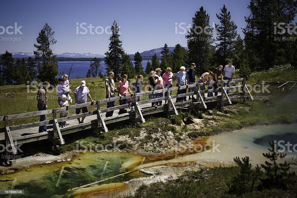 Family Vacation, Yellowstone National Park. royalty-free stock photo