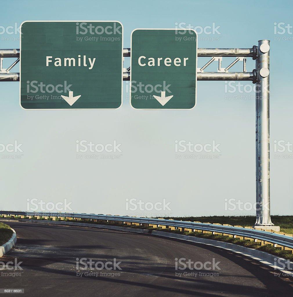 Family Versus Career stock photo