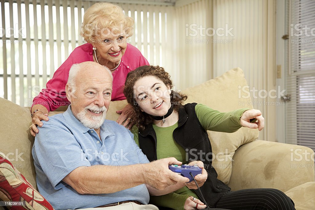 Family Video Game royalty-free stock photo