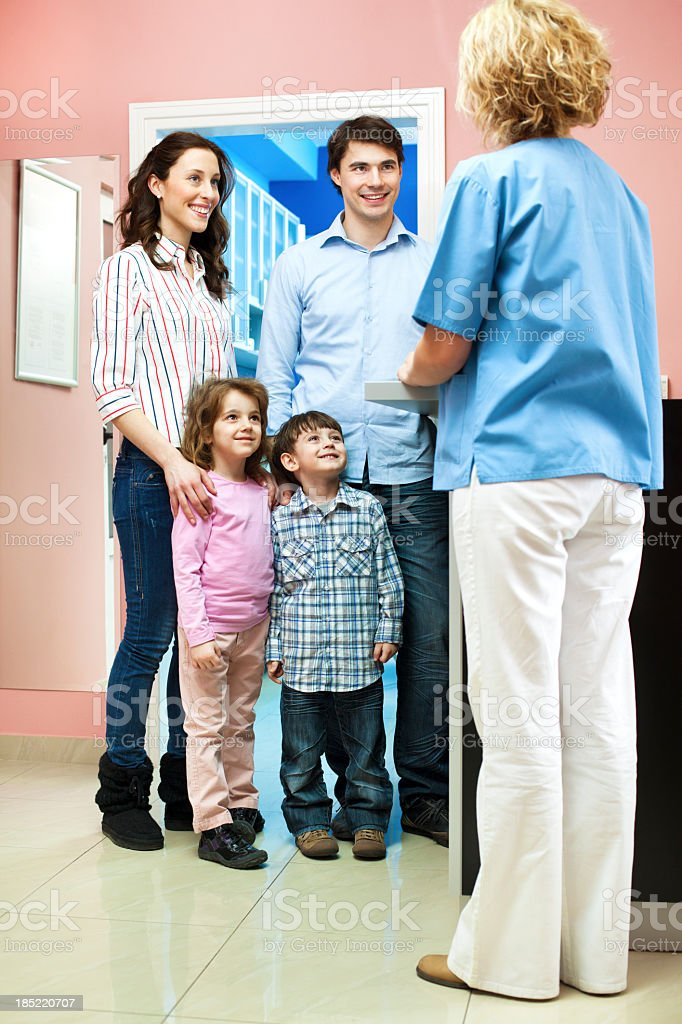 Family Visit Doctor royalty-free stock photo