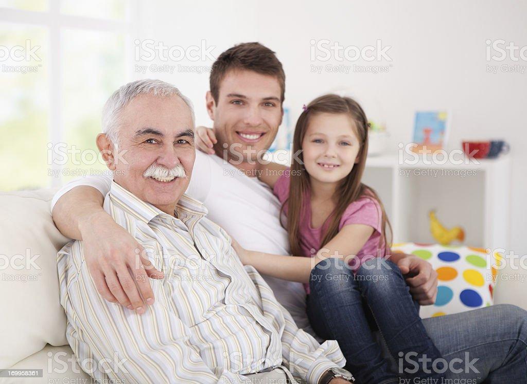 Family visit. royalty-free stock photo