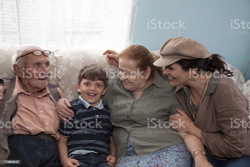 Family Visit royalty-free stock photo