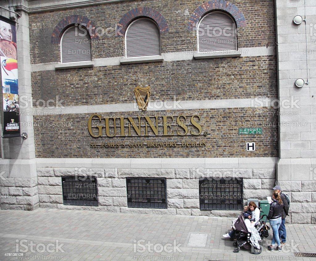 family visiting The Guinness Storehouse ,Dublin stock photo