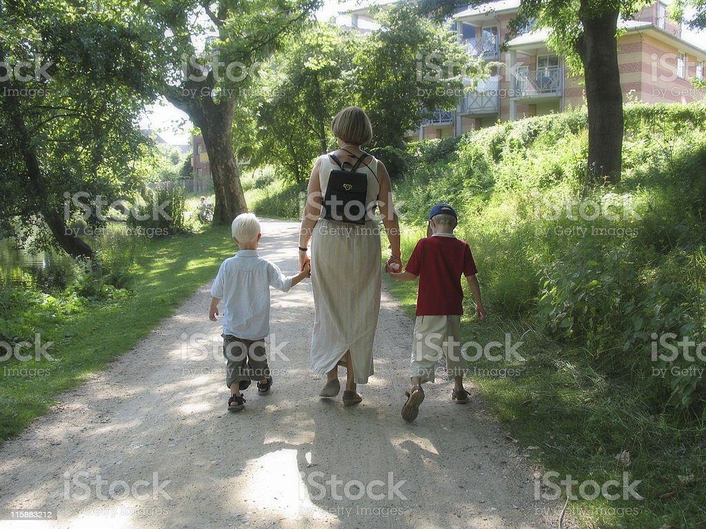 Family walk royalty-free stock photo