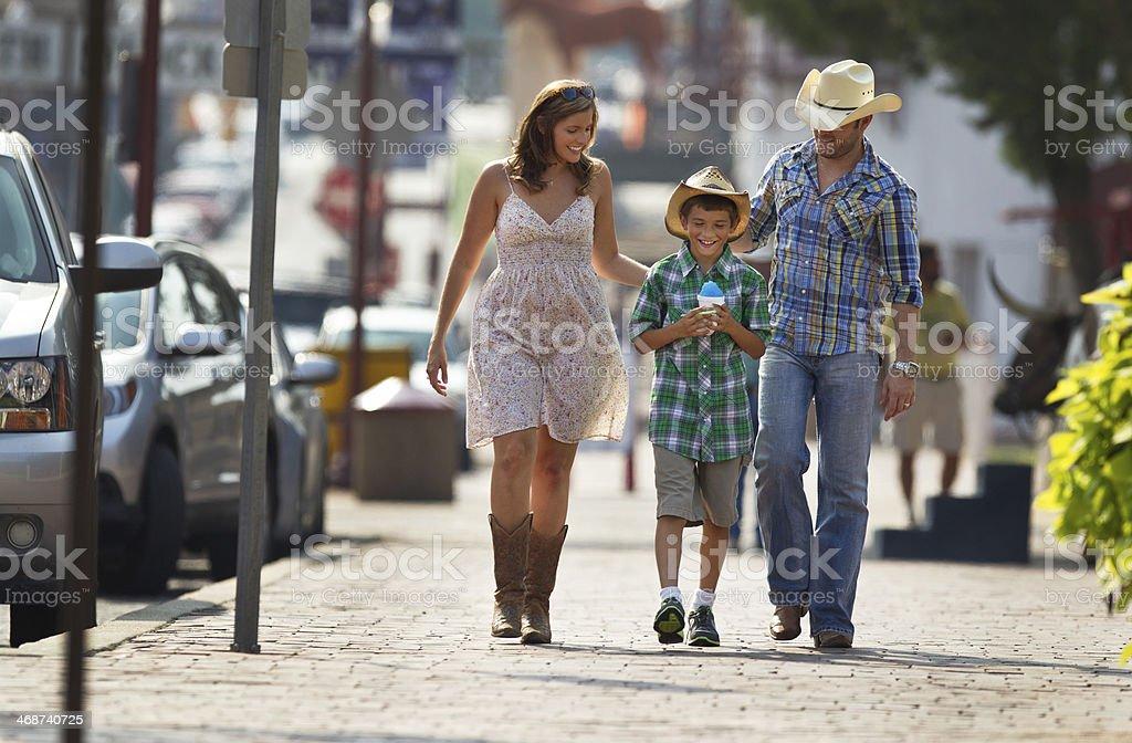 Family Walking stock photo