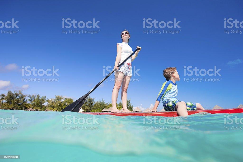 Family water activity royalty-free stock photo