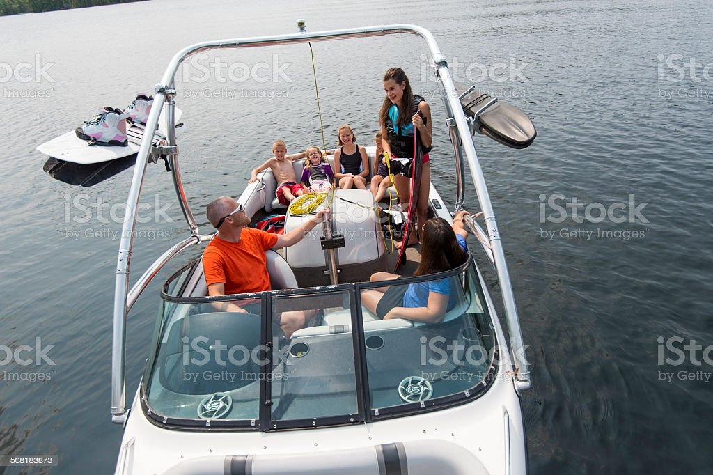 Family Watersports stock photo