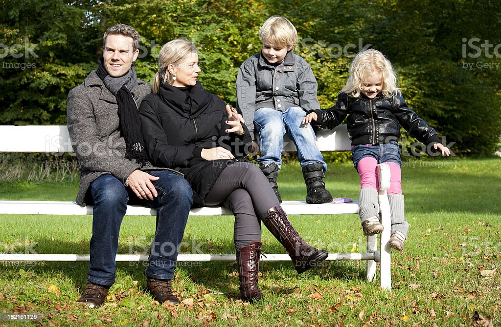 Family weekend in the park royalty-free stock photo