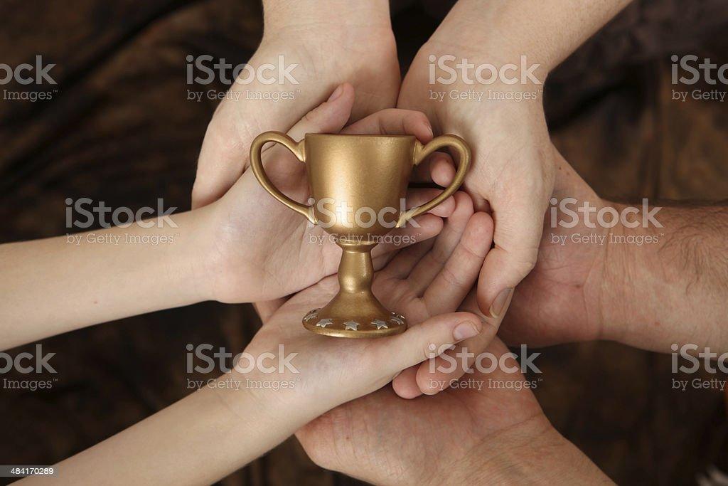 Family Win stock photo