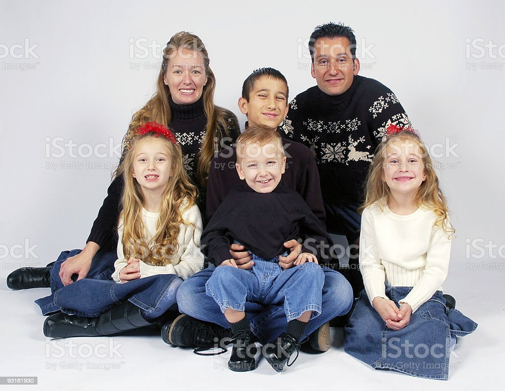 Family Winter Portrait royalty-free stock photo