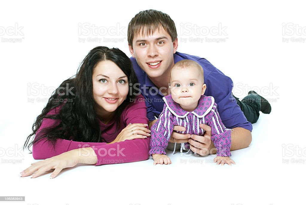 family with a baby royalty-free stock photo