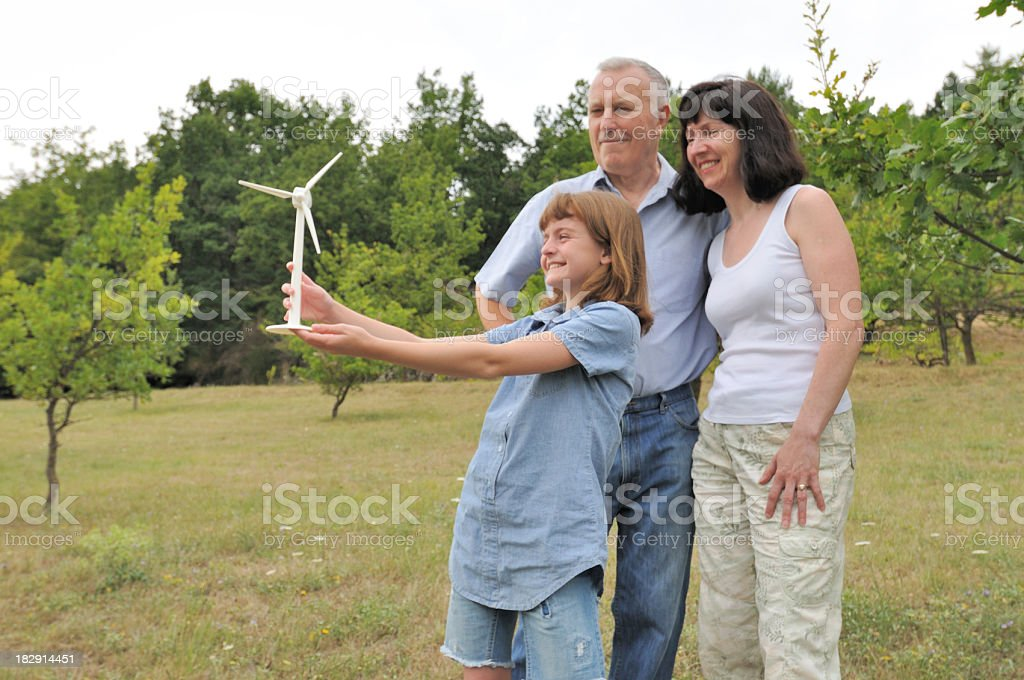 family with green future royalty-free stock photo