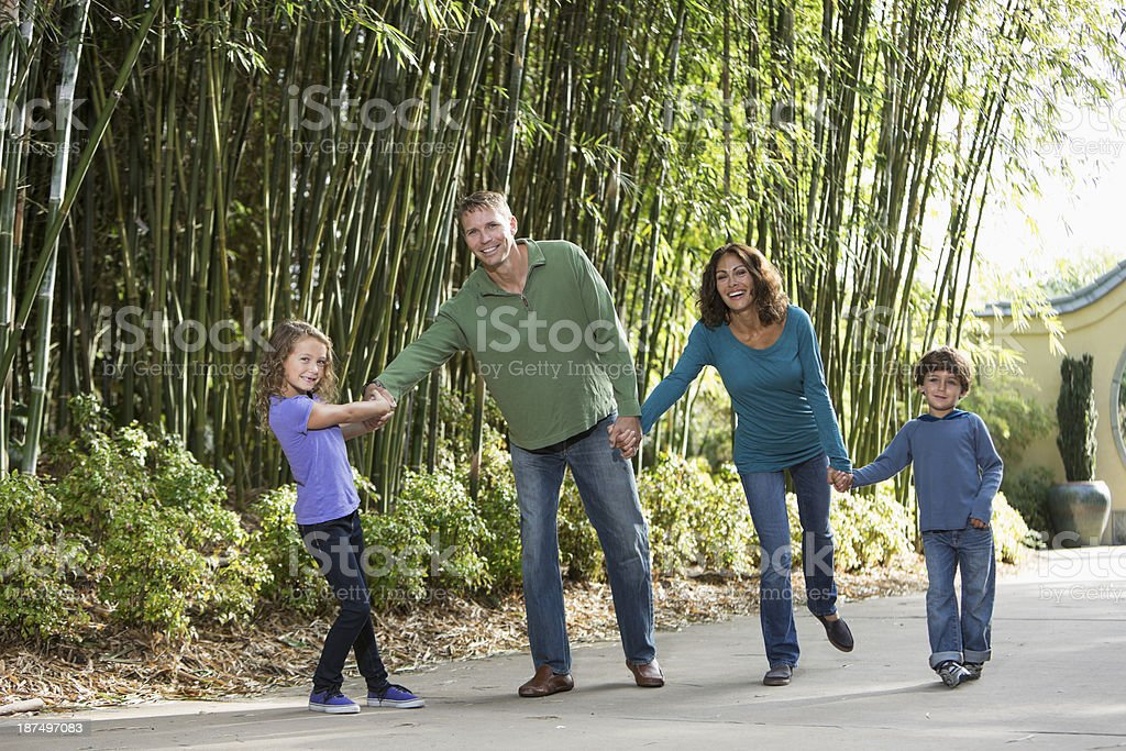 Family with two children royalty-free stock photo