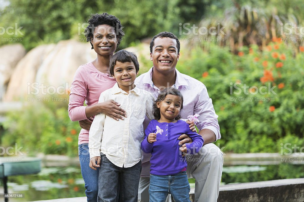 Family with two young children royalty-free stock photo
