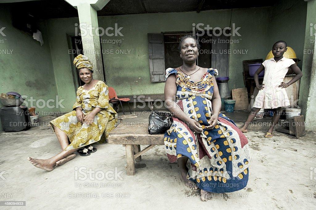 Family yard in Lagos town stock photo