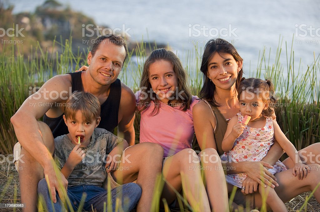 Family's portrait royalty-free stock photo
