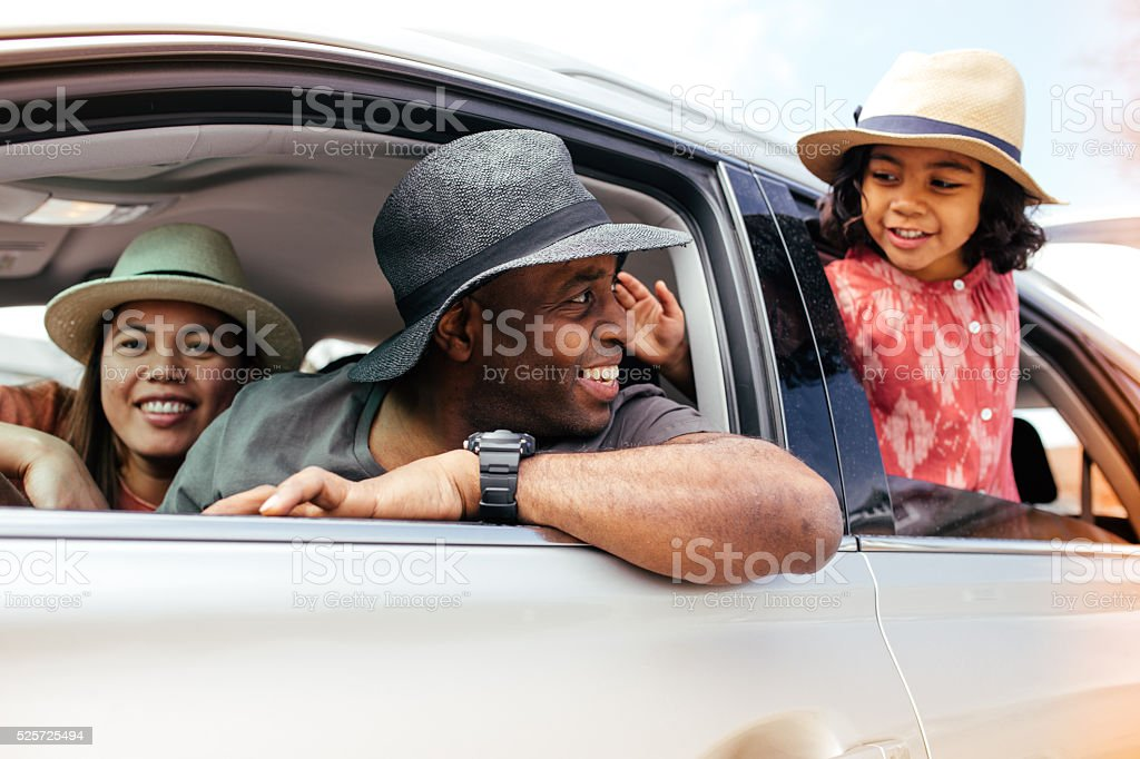 Family's  road trip stock photo