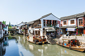 famous ancient town of zhujiajiao ancient buildings scenery in Shanghai