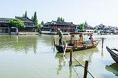 famous ancient town of zhujiajiao Scenic spot landscape in Shanghai