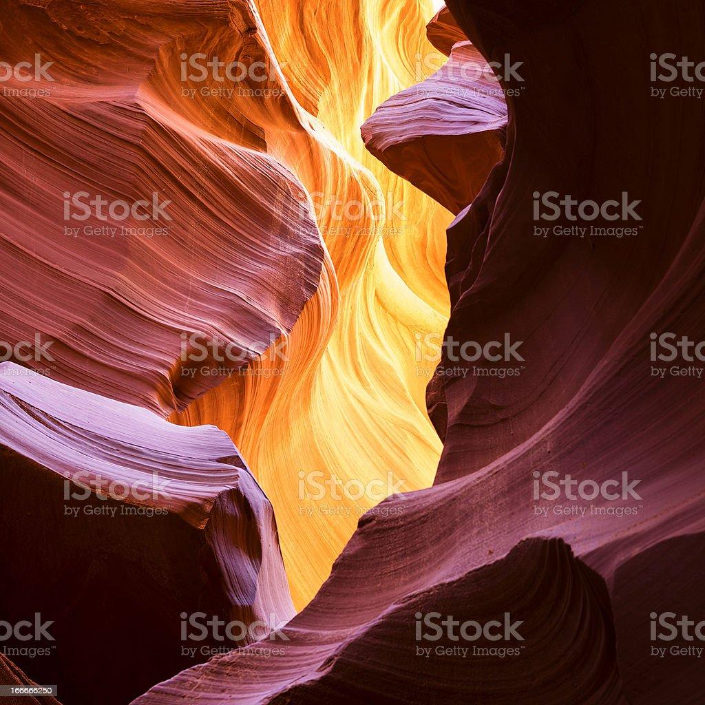 famous Antelope Canyon stock photo