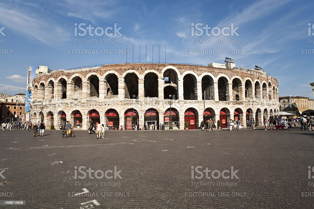 famous arena in Verona royalty-free stock photo