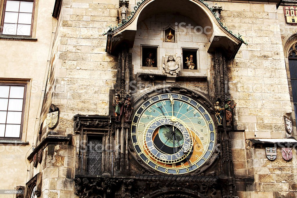 Famous astronomical clock in Prague royalty-free stock photo