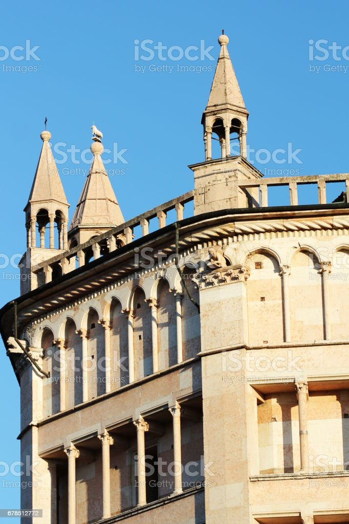 Famous Baptistery building in Parma, Emlia-Romagna, Italy. stock photo