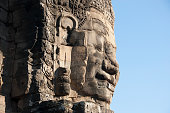 Famous Bayon temple in Cambodia