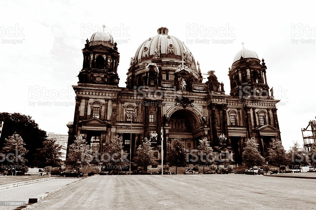 famous berlin cathedral royalty-free stock photo