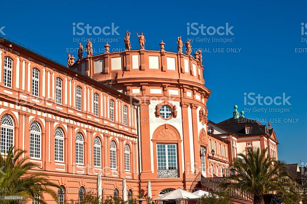 famous Biebrich Palace stock photo