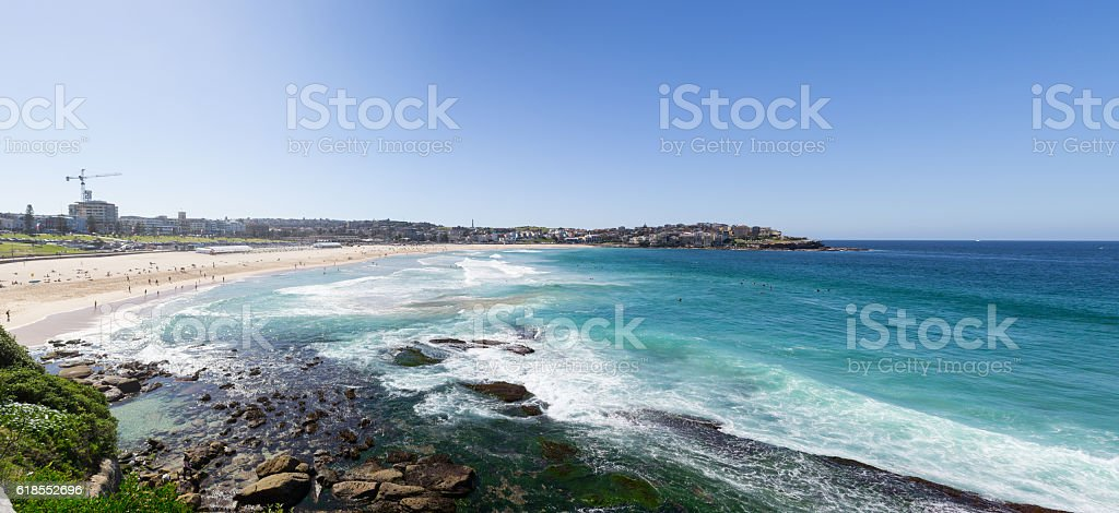 Famous Bondai beach in Sydney stock photo