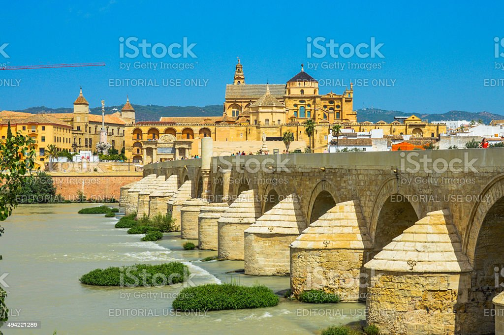 Famous bridge from Game of Thrones in Cordoba, Spain stock photo