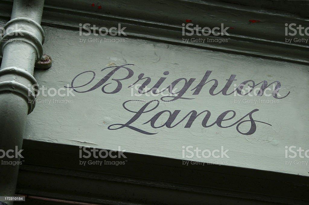 Famous Brighton Lanes stock photo