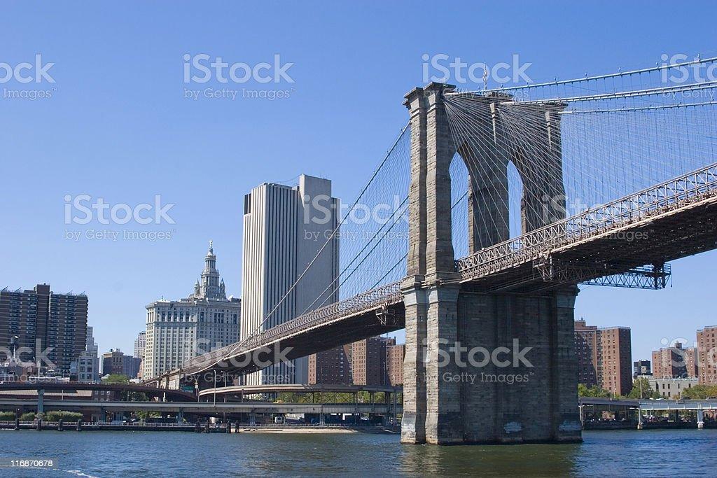 Famous Brooklyn Bridge in NYC royalty-free stock photo