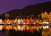 Famous Bryggen street in Bergen - Norway