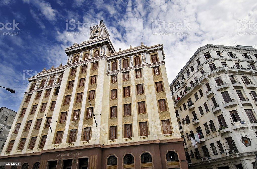 Famous building in Havana, cuba. stock photo