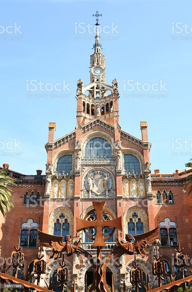 Famous buldings of  Barcelona, Spain royalty-free stock photo