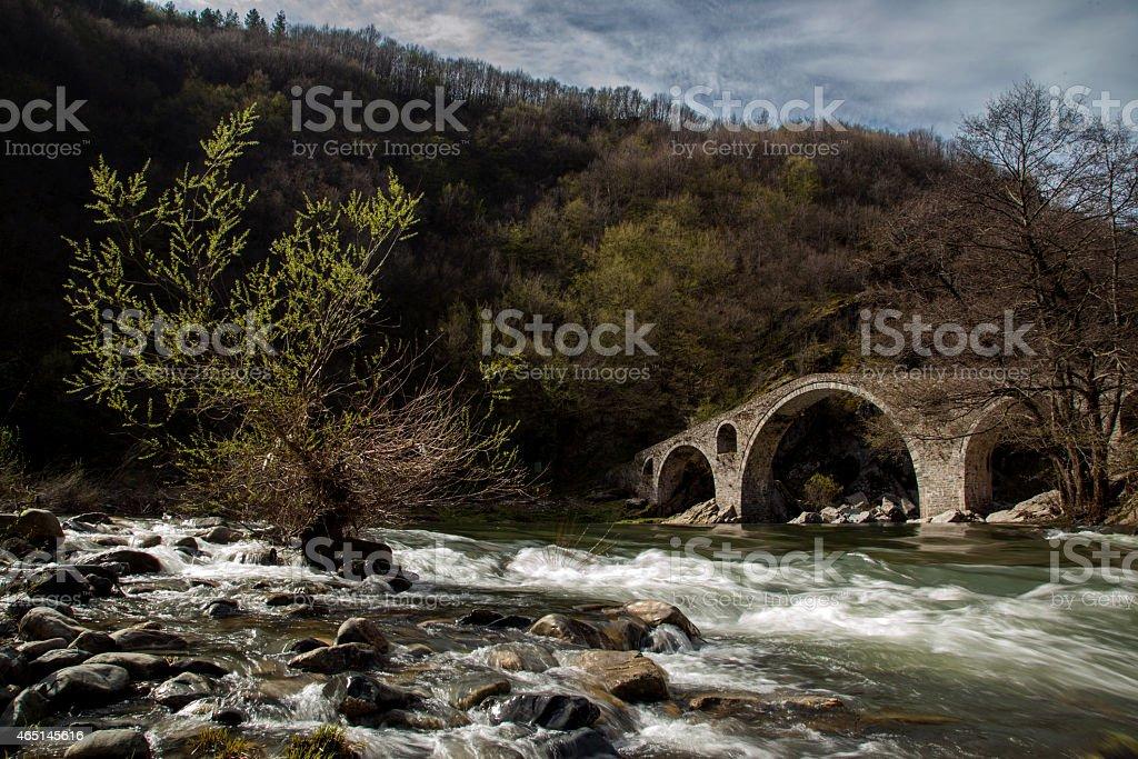 Famous Bulgarian Devil's Bridge stock photo