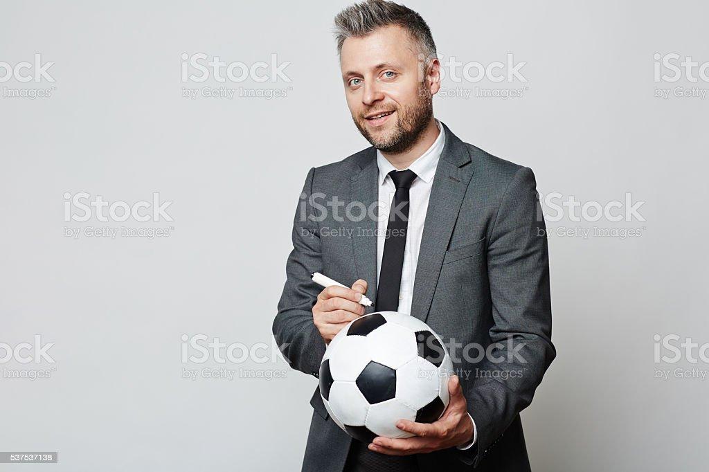 Famous businessman stock photo