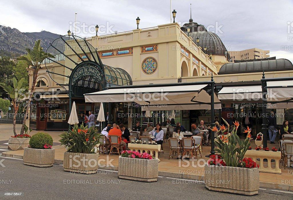 Famous Cafe de Paris in Monte Carlo, Monaco stock photo